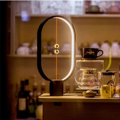 抖音同款礼物:木珠悬浮台灯 平衡灯