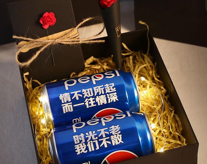 抖音上送女朋友的礼物:定制可乐易拉罐