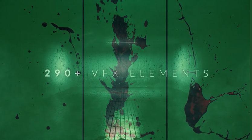 血迹视频素材4K 296个实拍血液飞溅血浆喷溅绿幕特效合成