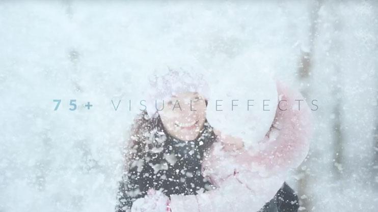 雪花视频素材4K高清 79个冬天下雪结冰特效合成视频素材
