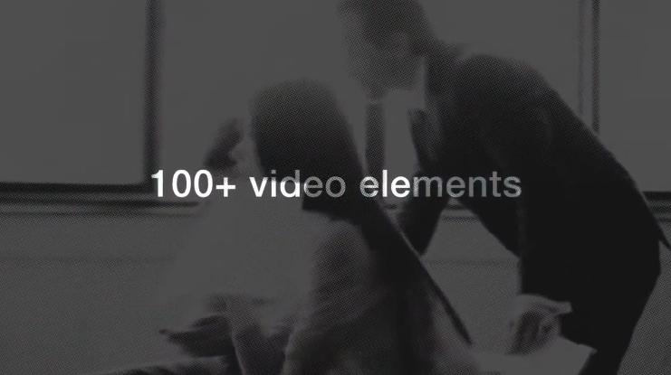 视频素材高清4K 100多个时尚企业元素包