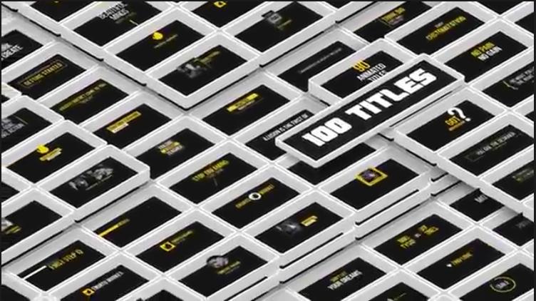 字幕视频素材 1850个超级豪华文字标题图形背景运动预设MG动画文字转场元素包