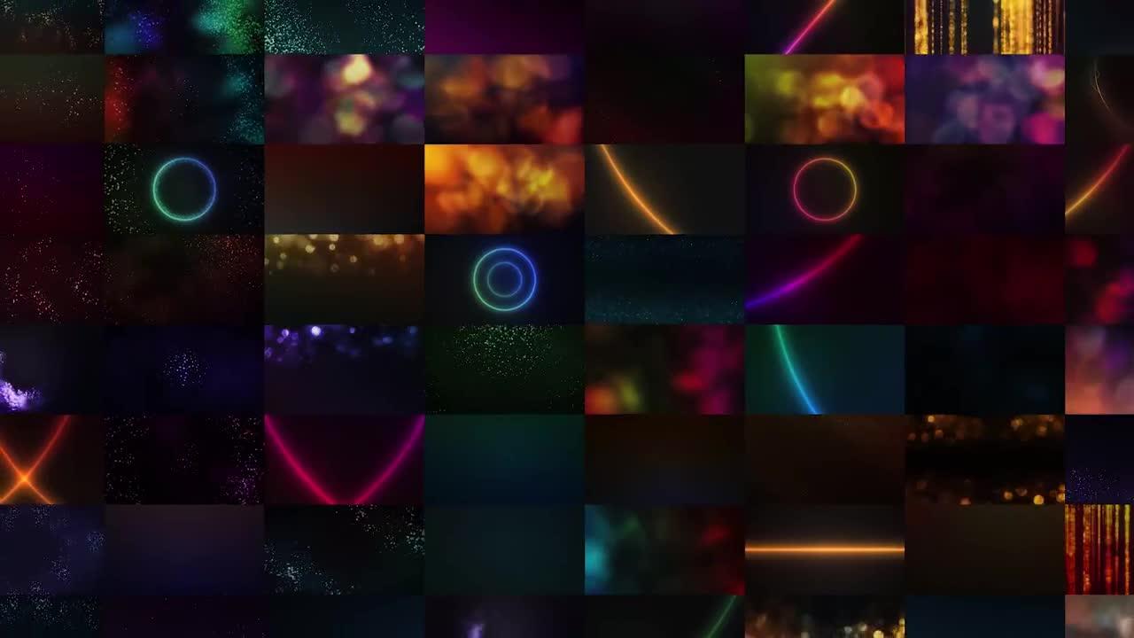 粒子视频素材 120组时尚奢华粒子背景包装4K视频高清素材